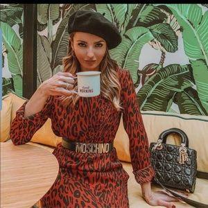 🆕️Bloggers fav.♥️♠️ ZARA NWOT Leopard Midi Dress